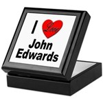 I Love John Edwards Keepsake Box