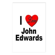 I Love John Edwards Postcards (Package of 8)