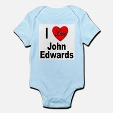 I Love John Edwards Infant Creeper