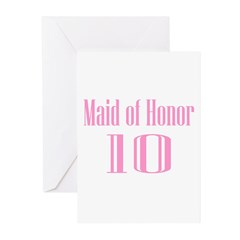 Maid of Honor 09 Greeting Cards (Pk of 20)