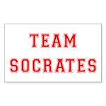 Team Socrates Rectangle Sticker