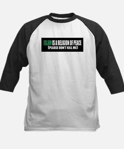 Islam Religion of Peace Kids Baseball Jersey