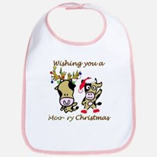 Cow Christmas Bib