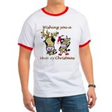 Animal christmas Ringer T