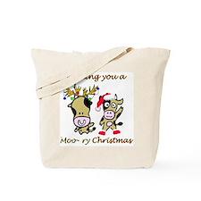 Cow Christmas Tote Bag