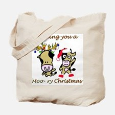 Cow Christmas Tote Bag