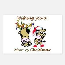 Cow Christmas Postcards (Package of 8)
