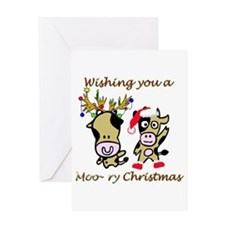 Cow Christmas Greeting Card