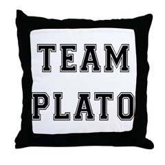 Team Plato Throw Pillow