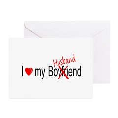 I Love My Husband Greeting Cards (Pk of 20)