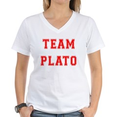 Team Plato Women's V-Neck T-Shirt