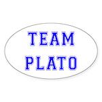 Team Plato Oval Sticker