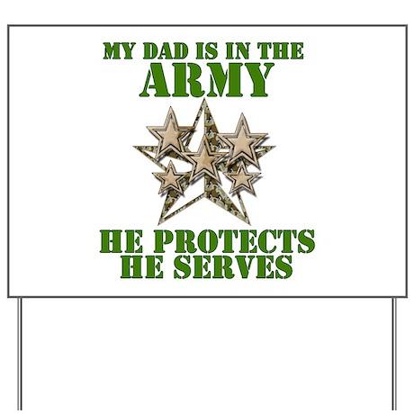 Army Dad Yard Sign