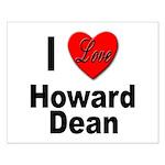 I Love Howard Dean Small Poster