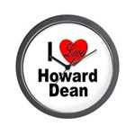 I Love Howard Dean Wall Clock