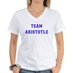 Team Aristotle Women's V-Neck T-Shirt