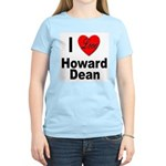 I Love Howard Dean (Front) Women's Pink T-Shirt