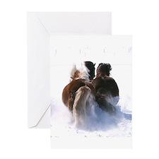 Icelandic pony Greeting Card