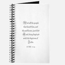 LUKE 7:29 Journal