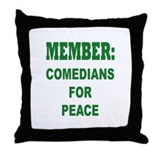Comedians For Peace Throw Pillow