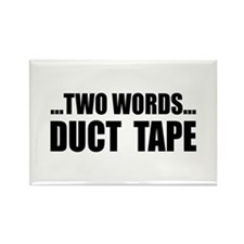 2 words-Duct Tape Rectangle Magnet