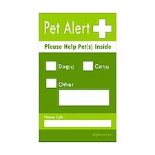 Pet Alert Rectangle Sticker 10 pk)
