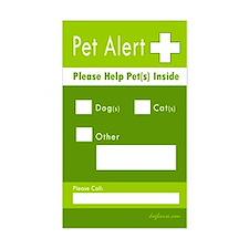 Pet Alert Rectangle Stickers