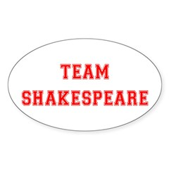 Team Shakespeare Oval Decal