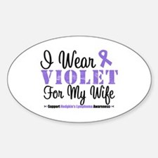 I Wear Violet For My Wife Oval Decal