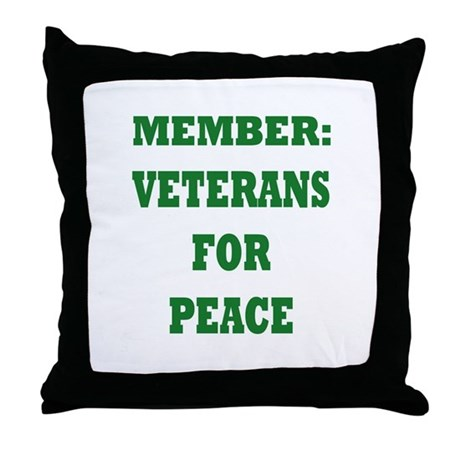 Veterans For Peace Throw Pillow