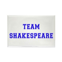 Team Shakespeare Rectangle Magnet (10 pack)