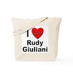 I Love Rudy Giuliani Tote Bag