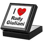 I Love Rudy Giuliani Keepsake Box