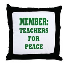 Teachers For Peace Throw Pillow