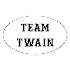Team Twain Oval Decal