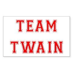 Team Twain Rectangle Decal
