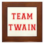Team Twain Framed Tile