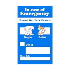 Rescue Our Pets Please Rectangle Sticker 10 pk)