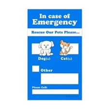 Rescue Our Pets Please Rectangle Decal