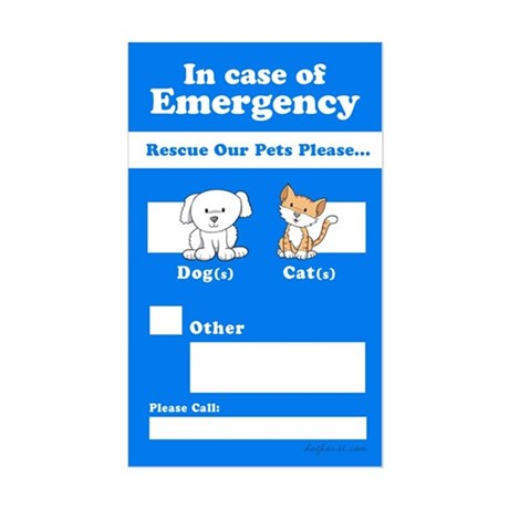 Rescue Our Pets Please Rectangle Sticker
