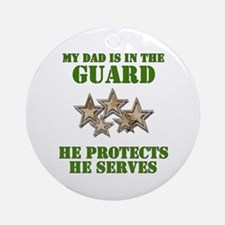 National Guard Dad Ornament (Round)