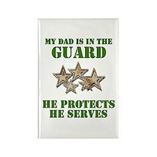 National Guard Dad Rectangle Magnet