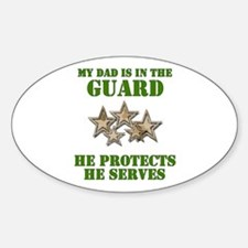 National Guard Dad Oval Decal
