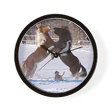 Cute Icelandic horse Wall Clock
