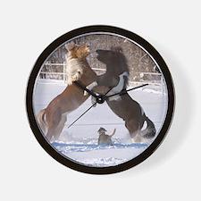 Unique Iceland dog Wall Clock