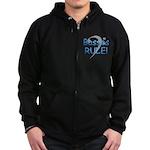 Basses Rule! Zip Hoodie (dark)
