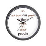 It's About People Wall Clock