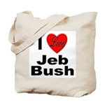 I Love Jeb Bush Tote Bag