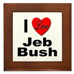 I Love Jeb Bush Framed Tile