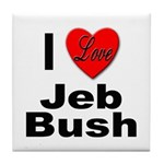 I Love Jeb Bush Tile Coaster